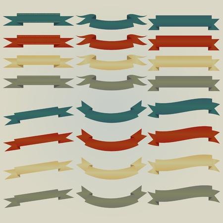 earth tone: ribbon set in earth tone Illustration