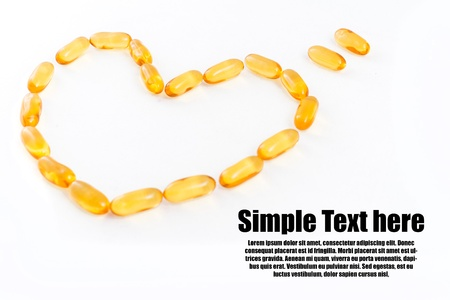 fish oils with text Stock Photo