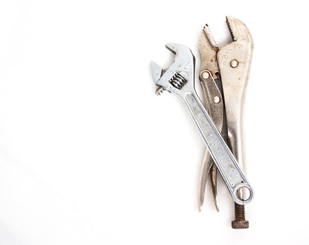 wrench and Lock pliers photo
