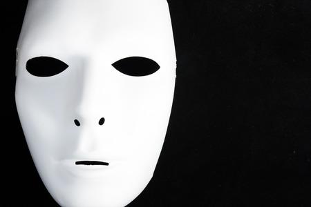 分離された黒で白いマスク 写真素材