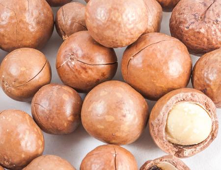 un healthy: macadamia on isolated