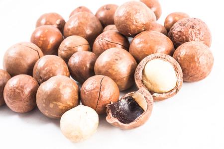 macadamia on isolated photo