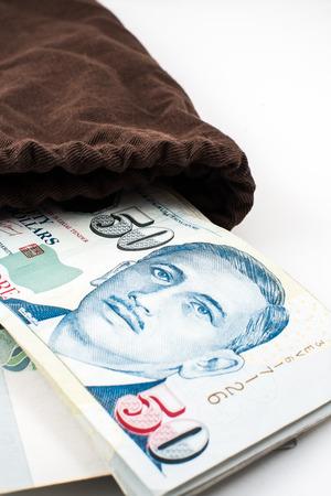 シンガポールのお金 写真素材