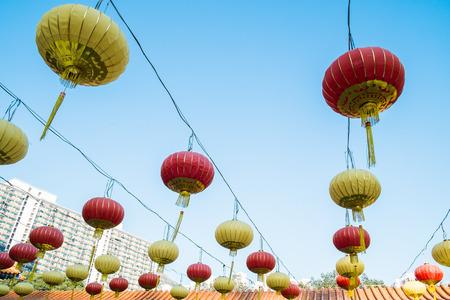 lanterns in Wong Tai Sin Temple Hong Kong  photo