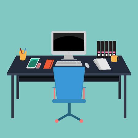 Vector Office Workspace room