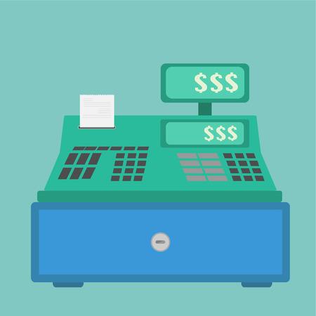 Vector of Cash Register