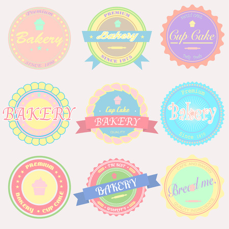 Vector bakery Badges And Labels Vector