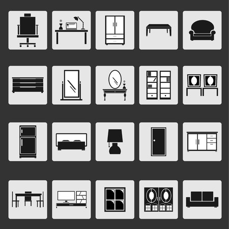 Vector of  Furniture icons  Vector