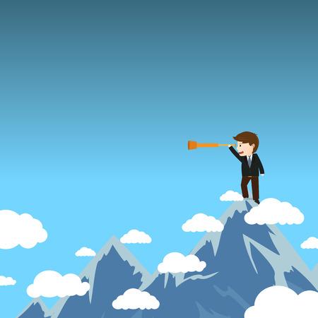 better:  businessman get a better view Illustration