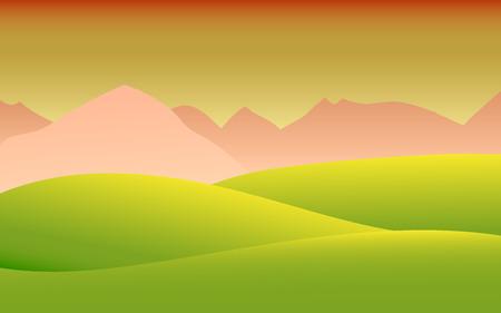 rolling landscape: Landscape sunset field