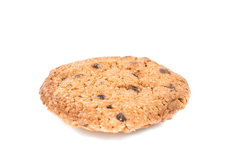 indulgence: Cookie on white isolated background