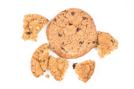 indulgence: Cookie on white isolated background