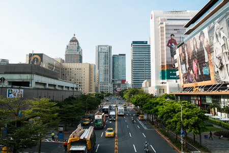 Taipei TAIWAN september 03: Section 5 Xinyi Road  on 03 September 2014.  Editorial