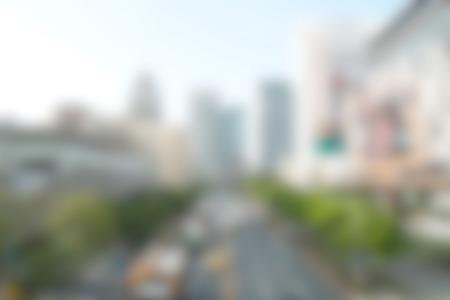 街ぼかし背景 写真素材
