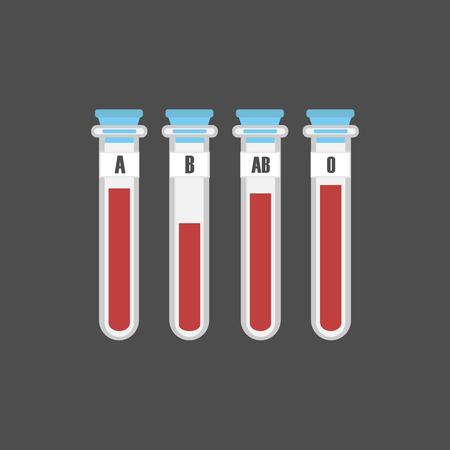 blood tests: blood types Illustration
