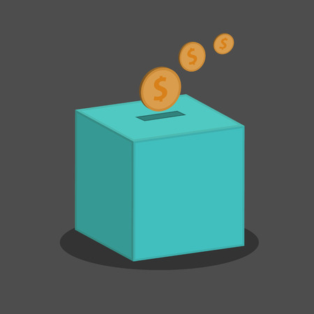 募金箱のベクトル