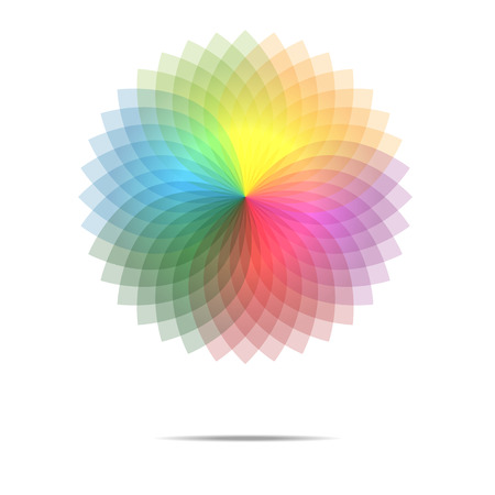 spirograph: Vector of spectrum spirograph abstract background