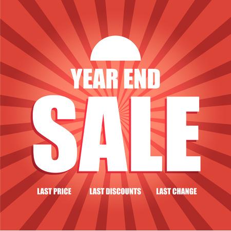 年終わり販売ポスターのベクトル 写真素材 - 33312526