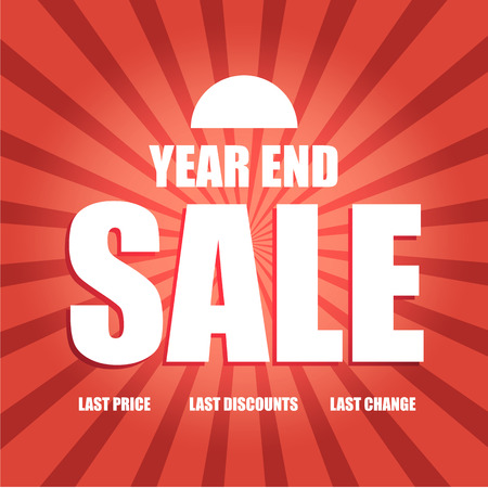 the end of the year: Vector of year end sale poster