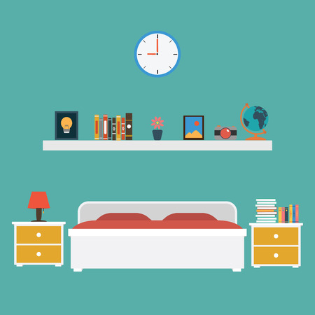 bedroom: Bedroom flat design