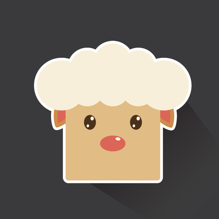 Vector of sheep in sticker style Vector
