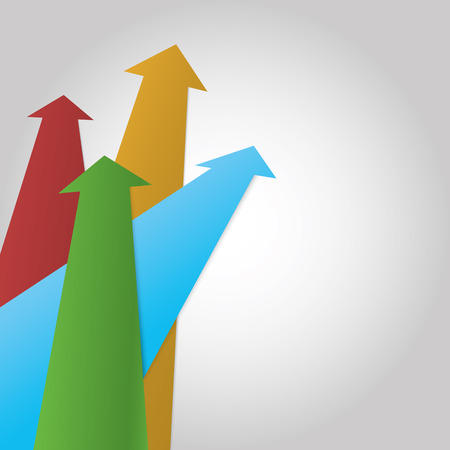 Vector arrow profit background Illustration