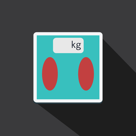analog weight scale: Vector of digital scale with long shadow