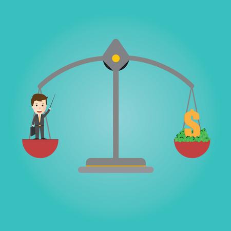 Vector of Scales balance . businessman get money Banco de Imagens - 34199072