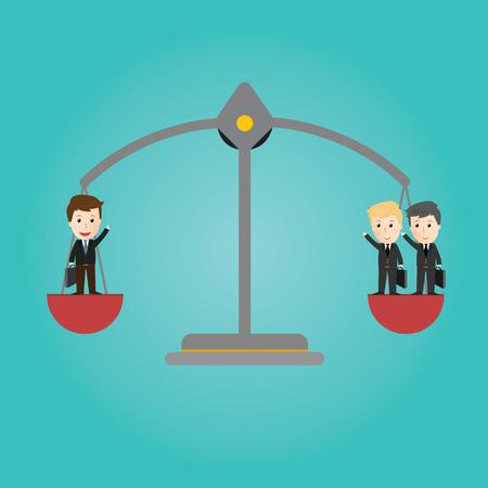 balance concept: Vector of Scales balance . businessman concept