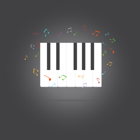 piano key: Vector of piano key .music Illustration
