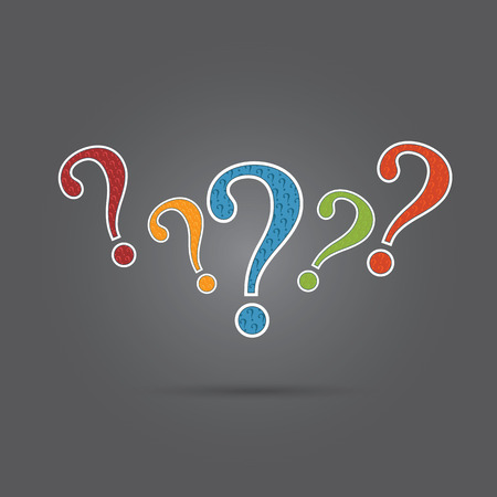 a question mark: Vector of question mark Illustration