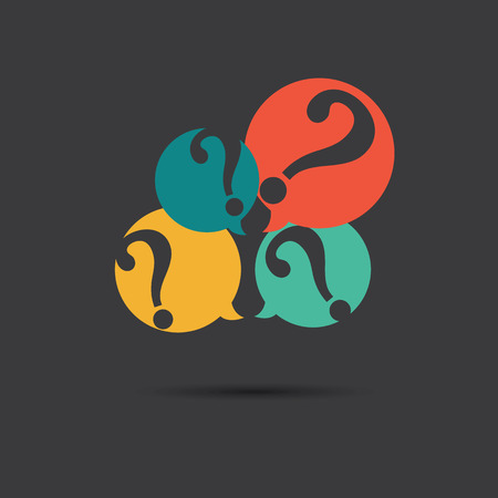 Vector of question marks icon