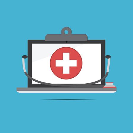 健康管理のためコンピューター医療記録 .new 技術のベクトル 写真素材 - 37673474