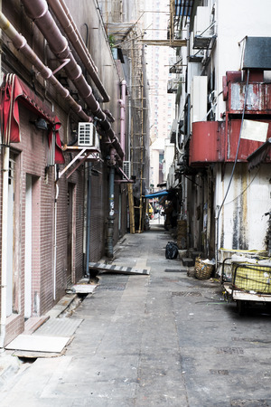 ripper: alley in hong kong Stock Photo