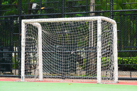 futsal: futsal goal on futsal field