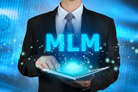 multilevel: businessman learning Multi-Level Marketing (MLM).concept Stock Photo