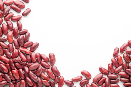 macrobiotic: Red Beans on white isolated background