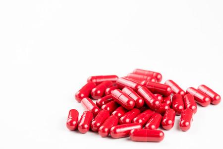 capsules: red capsules of medicine