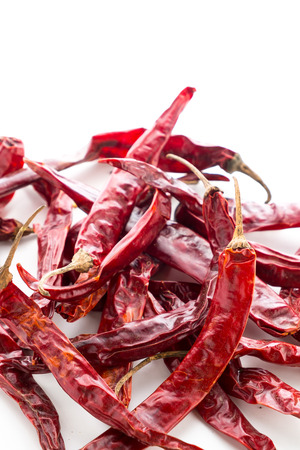 spicy food: dry chilli for making spicy food Stock Photo