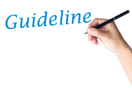 guideline: Hand writing Guideline Word
