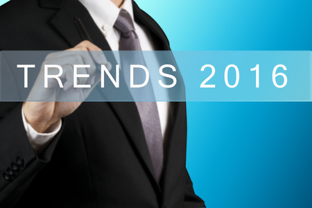 trends: Businessman with Trends 2016 WORD