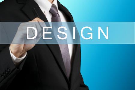 graphic designing: Businessman with DESIGN WORD