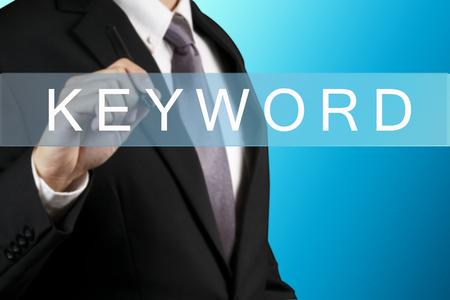 keyword: Businessman with KEYWORD WORD