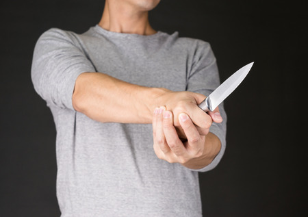 crime: A Man Holding Knife crime