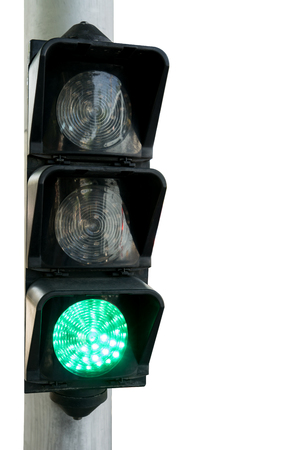 trafficlight: Green light ,Traffic lights on white isolated