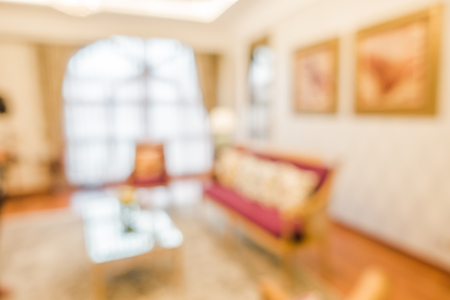 luxury room: Abstract Blur luxury Living room for background Stock Photo