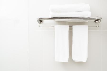 white towel: white towel in toilet