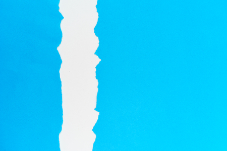 copy: Blank Blue torn paper with copy space Stock Photo