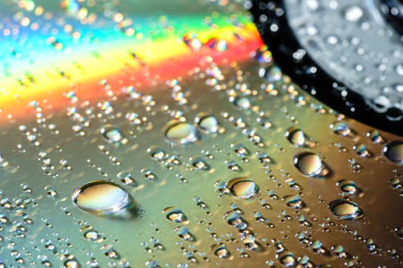 Abstract water drop on cd plate