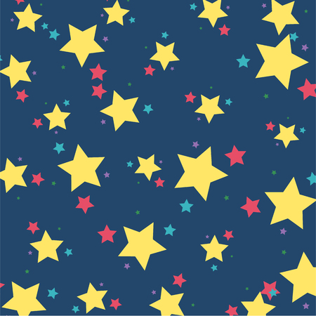 Vector of kids pattern Star